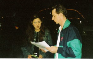 Jaci Velasquez and me at Six Flags Over Georgia, around 2000.