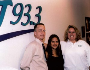 Me, Rachael Lampa, and my co-host at the time, Sheila Richards