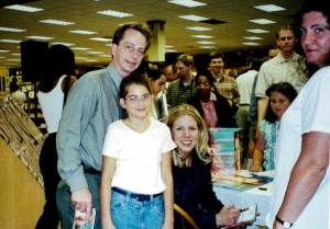 Me, my daughter Kelsey, Nichole, my wife Teri. 2002-ish at a Borders bookstore in the ATL.