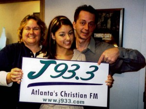 Sheila Richards, Stacie Orrico and me, 2000-ish.