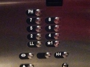 1, 2, 4? Wait, where's the 3rd floor?